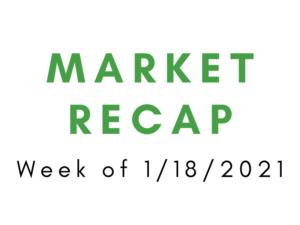 Week of 1/18/2021 Market Recap