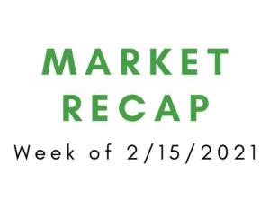 Week of 2/15/2021 Market Recap