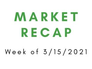 Week of 3/15/2021 Market Recap