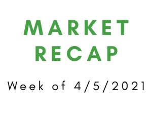 Week of 4/5/2021 Market Recap
