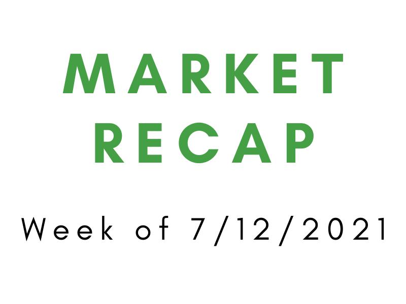 Week of 7/12/2021 Market Recap
