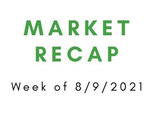 Week of 8/9/2021 Market Recap