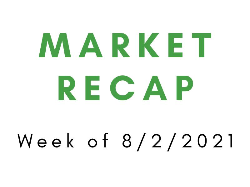 Week of 8/2/2021 Market Recap