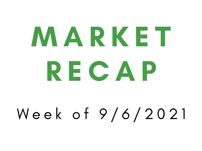 Week of 9/6/2021 Market Recap