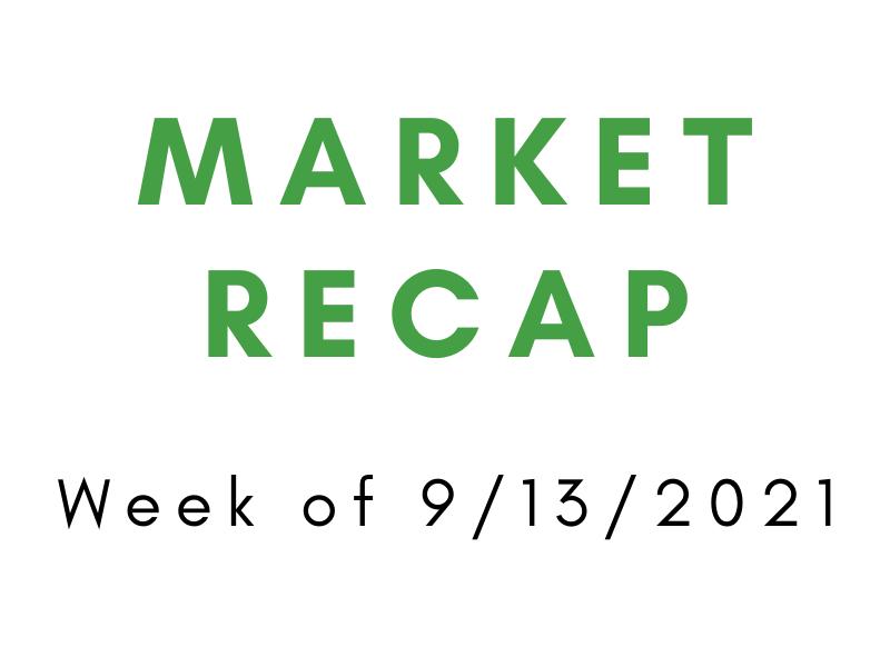 Week of 9/13/2021 Recap
