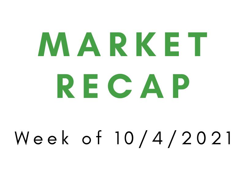 Week of 10/4/2021 Market Recap