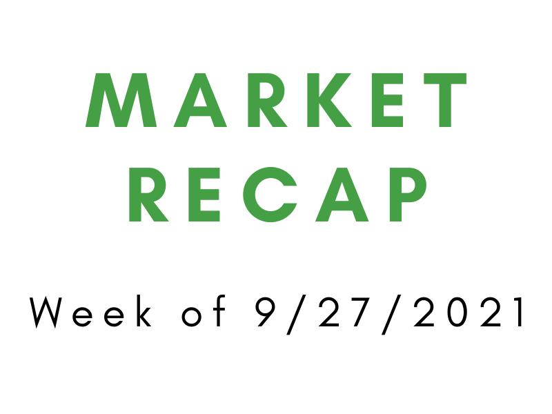 Week of 9/27/2021 Market Recap